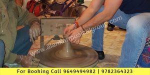 Kumhar Pot Making Setup in jaipur Events, Pottary Making, Live Sand Pot Making Demo Jaipur Events