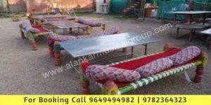 Rajasthani Khaat Setup in Event Jaipur, Charpai Setup Event in Jaipur